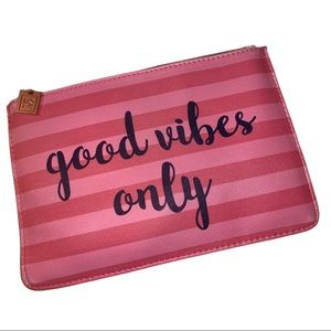 Good Vibes Only Cosmetic Makeup Bag